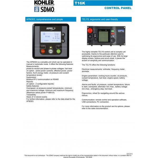 T16 - 16KW SILENT GENERATOR SDMO