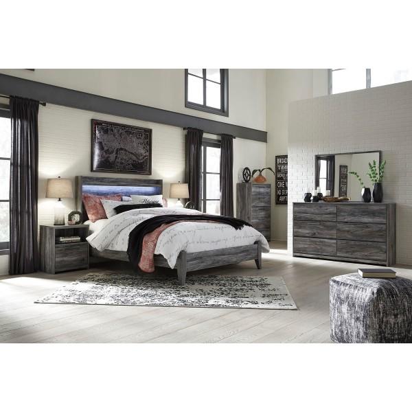 B221q Baystorm Gray Queen Size Bedroom Set Queen Bed 2