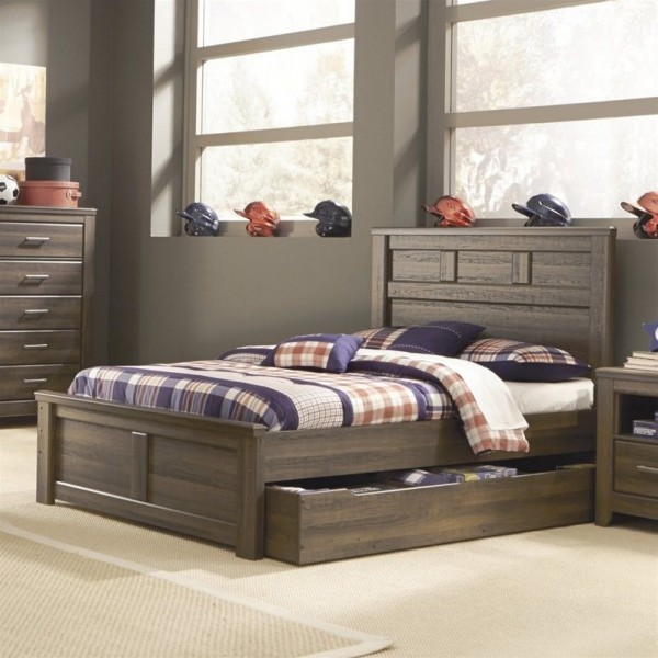 B251t Juararo Dark Brown Twin Size Bedroom Set Twin Bed 2