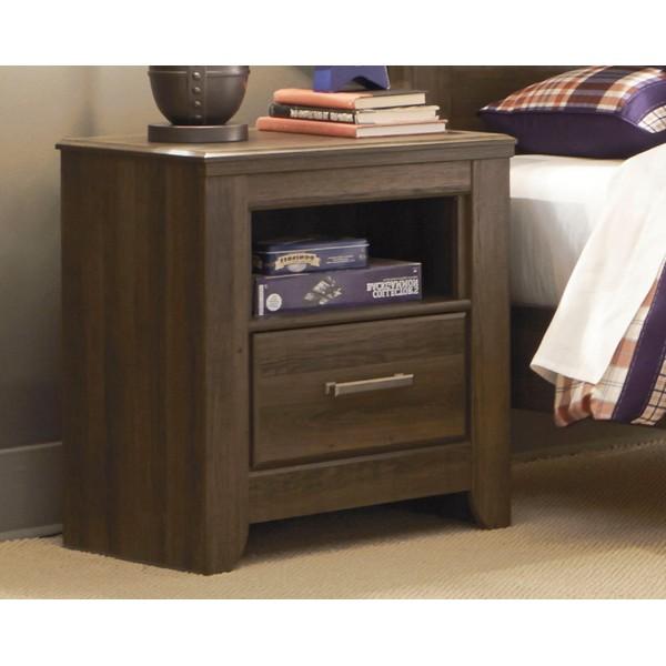 B251t Juararo Dark Brown Twin Size Bedroom Set Twin Bed 2