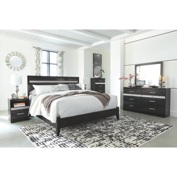 B304K – Starberry Black King Size Bedroom Set (King Bed – 2 Night ...