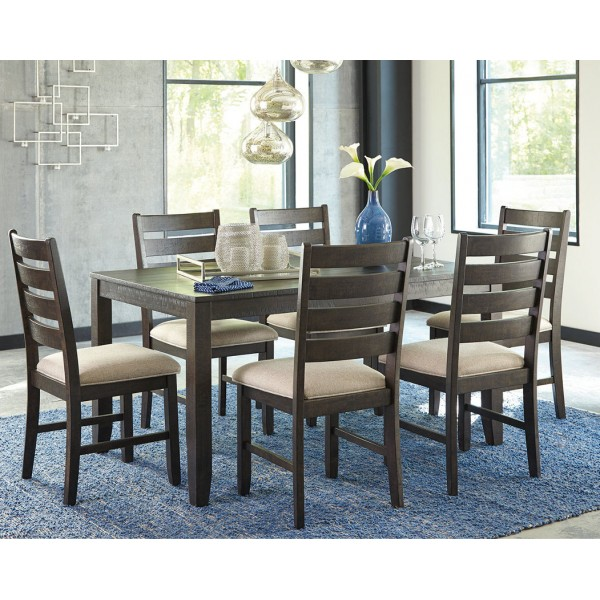 D397 425 Rokane Brown Dining Room Set Rectangular Dining Table