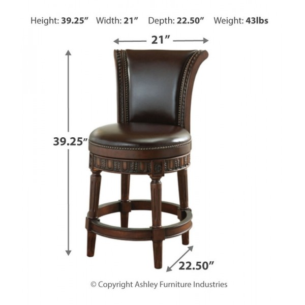 D553 224 North Shore Counter Height Bar Stool Ashley Furniture